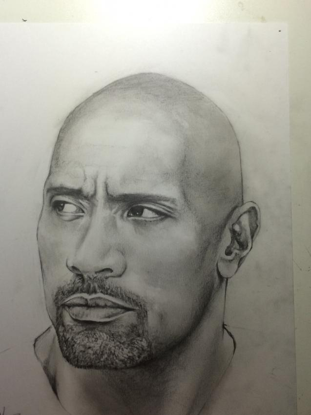 Dwayne Johnson by andrew